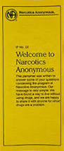 Welcome To Narcotics Anonymous Informational Pamphlet